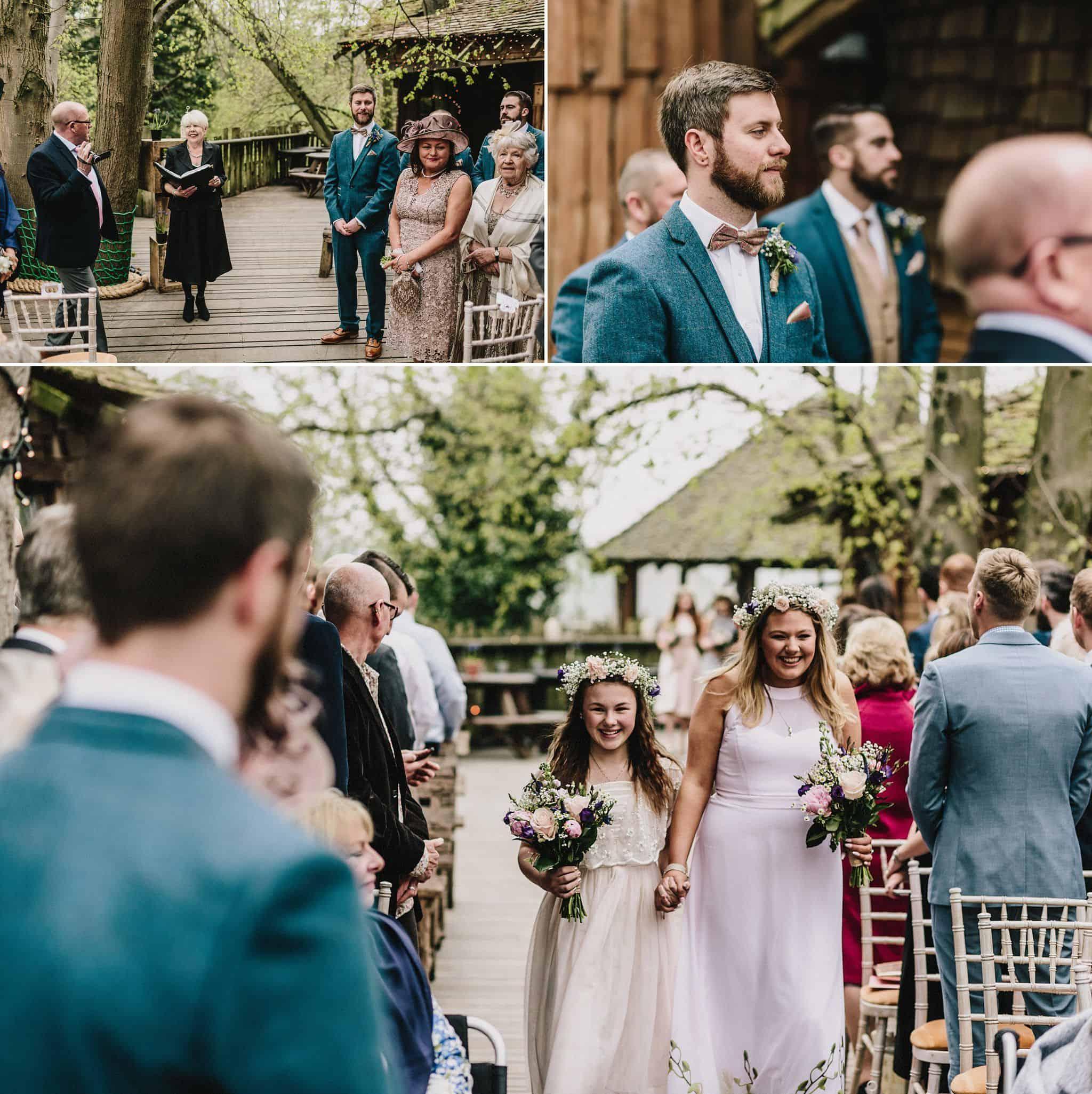 Alnwick Treehouse wedding photography (12