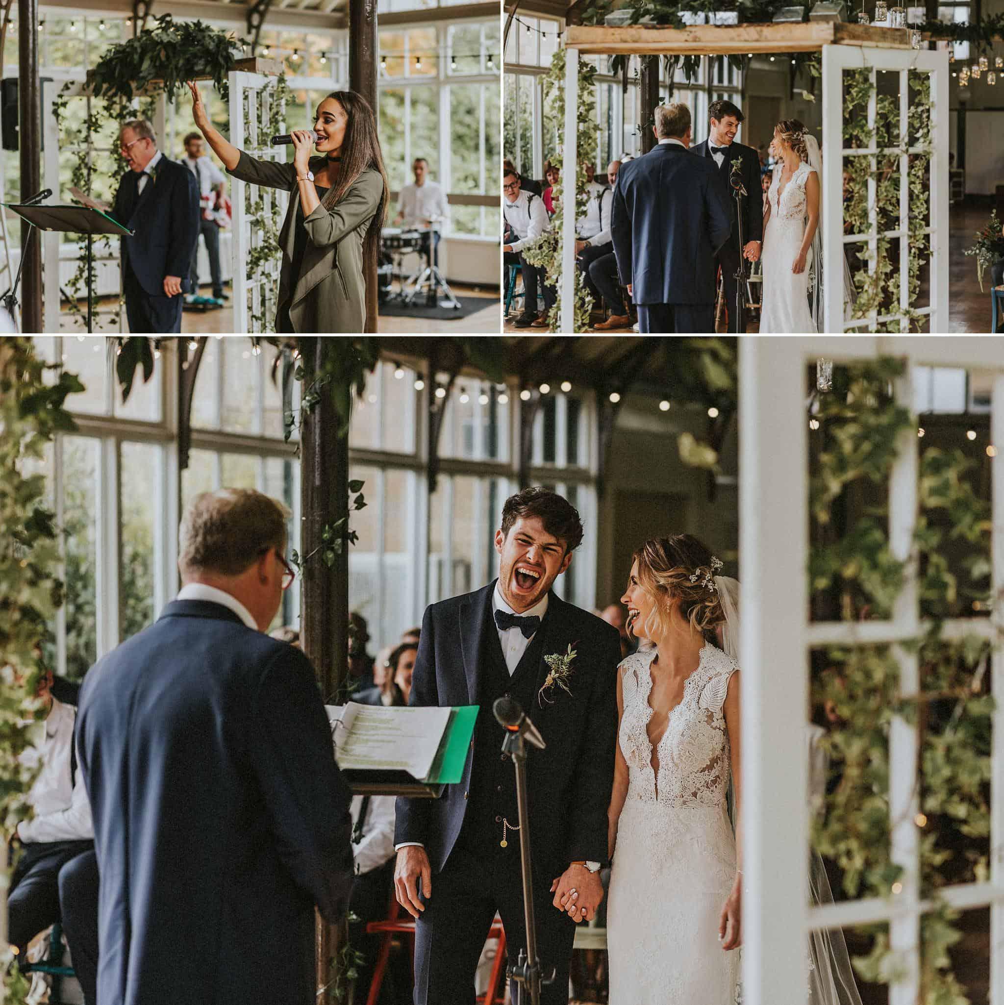 hexham winter gardens wedding photographer