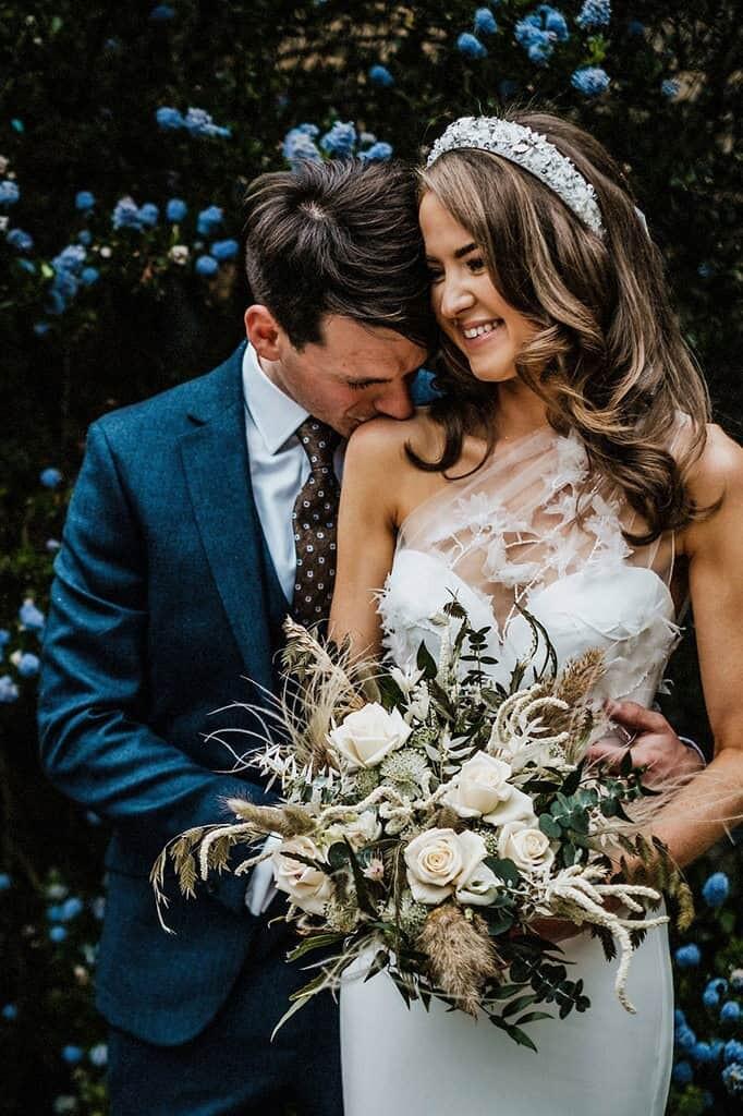 north east wedding photographer newcastle upon tyne bride and groom portrait